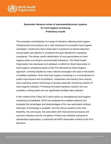 Systematic literature review of automated/electronic systems for ...