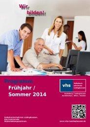Programm Frühjahr / Sommer 2014 - Volkshochschulkreis ...