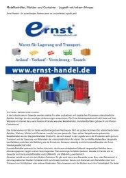 Metallbehälter, Mulden und Container - Logistik mit hohem Niveau