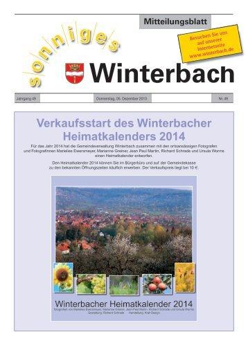 Mitteilungsblatt KW 49/2013 - Gemeinde Winterbach