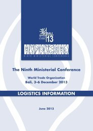 LOgisTiCs iNfOrMaTiON - World Trade Organization