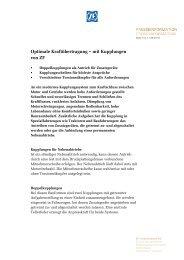 Optimale Kraftübertragung – mit Kupplungen von ZF (PDF, 123 KB)