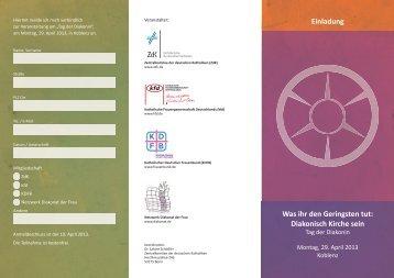 "Programm ""Tag der Diakonin"" (pdf Download)2.6 MB - ZdK"