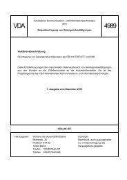 Gelangensbestätigung mit EDI VDA 4989 - ZF Friedrichshafen AG