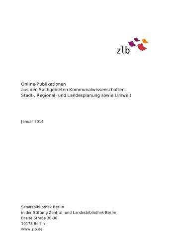 Online-Publikationen aus den Sachgebieten ...