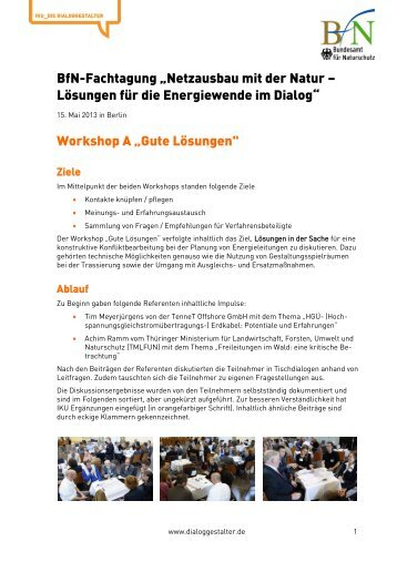 "Workshop A ""Gute Lösungen"""