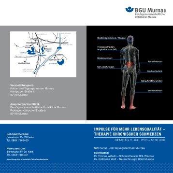 therapie chronischer schmerzen - BGU Murnau