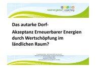 Das autarke Dorf - Akzeptanz Erneuerbarer Energien durch ...