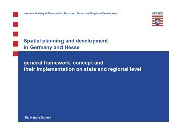 Spatial planning and development in Germany and Hesse ...