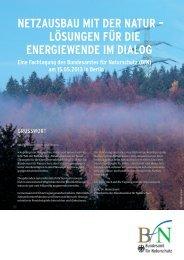 Netzausbau mit der Natur – Lösungen für die Energiewende im Dialog
