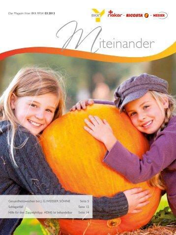 Ausgabe 2013-3 als PDF herunterladen - BKK Rieker . Ricosta ...