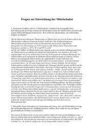 Fragen zur Entwicklung der Mittelschulen - BLLV