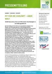 Forderungskatalog des BUND Naturschutz Bayern - BLLV