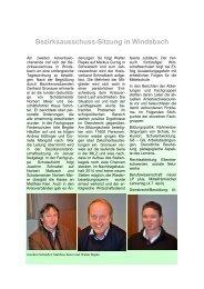 Bezirksausschuss-Sitzung in Windsbach - BLLV
