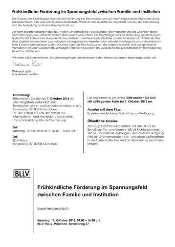 Bayerischer Schulleitertag - BLLV