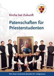 Patenschaftsfolders 2013 - im Stift Heiligenkreuz