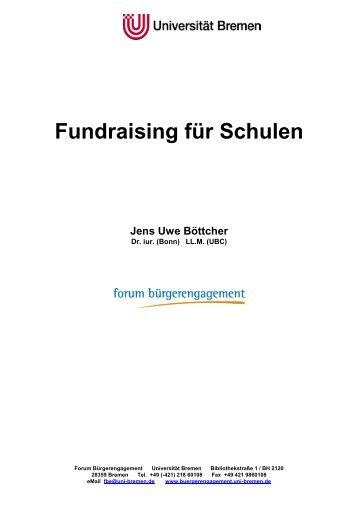 Fundraising für Schulen Jens Uwe Böttcher - BLLV