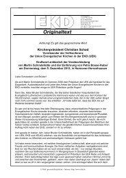 Das Grußwort im Wortlaut - Evangelische Kirche in Deutschland