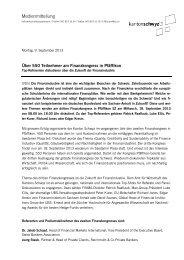 Press Release - Kanton Schwyz