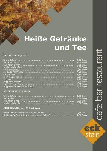 Heiße Getränke und Tee - Café Europa Dresden