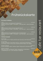 Frühstückskarte - Café Europa Dresden
