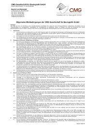 Allgemeine Mietbedingungen der CMG Gesellschaft für Baulogistik ...