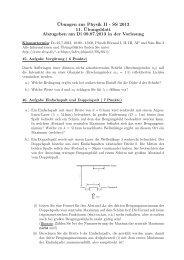 ¨Ubungen zur Physik II - SS 2013 11. ¨Ubungsblatt ... - Desy