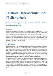 Leitlinie Datenschutz und IT-‐Sicherheit - DFN-Verein