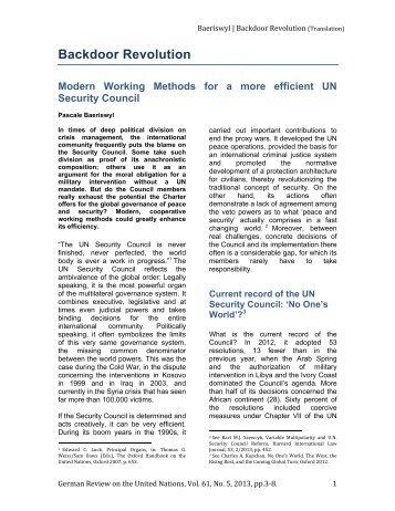Backdoor Revolution. Modern Working Methods for a more efficient ...