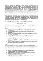 Leiter Qualität (m/w) - DGQ
