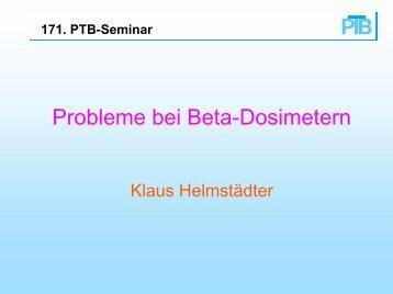 Probleme bei Beta-Dosimetern