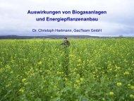 Auswirkungen von Biogasanlagen und ... - GeoTeam