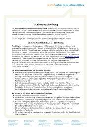 Stellenangebot als PDF. - Deutsche Kinder und Jugendstiftung
