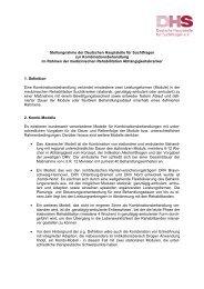 Stellungnahme der Deutschen Hauptstelle für Suchtfragen zur ...