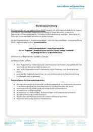 Stellenausschreibung - Deutsche Kinder und Jugendstiftung
