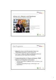 klima:aktiv Bauen und Sanieren Das Programm - FH Oberösterreich