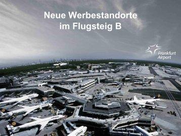 Neue Werbestandorte im Flugsteig B - Media Frankfurt