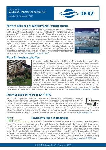 Ausgabe 14, September 2013 - DKRZ