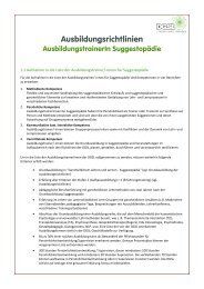 Ausbildungstrainer in Suggestopädie - DGSL