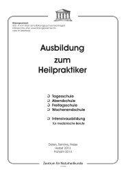 Ausbildung zum Heilpraktiker - Zentrum für Naturheilkunde