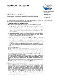 Merkblatt M3-001-14: Babyschwimmen & -tauchen - DLRG