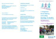 3. Integrativer Nordic Walking- und Lauftag Sonntag, 13.10.2013 - blsv