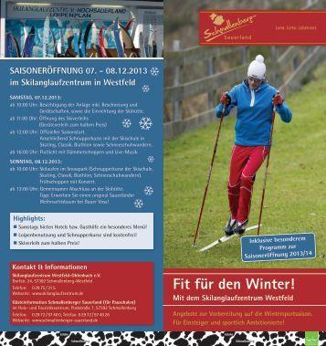 Fit für den Winter! - Skilanglaufzentrum Hochsauerland Westfeld ...