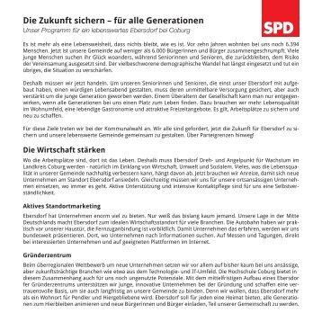 geht es zu unserem ausführlichen Wahlprogramm ... - SPD Ebersdorf