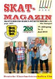 Skatmagazin Juni 2013 - DSkV