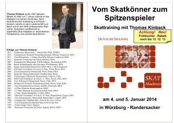 Thomas Kinback wurde 1967 geboren - DSkV