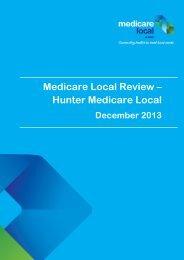 Medicare Local Review – Hunter Medicare Local