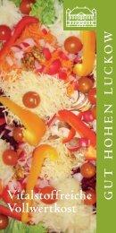 Seminarinformationen - Gut Hohen Luckow