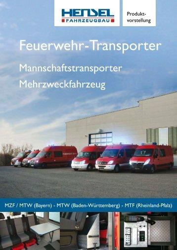 Feuerwehr -Transporter - HENSEL Fahrzeugbau