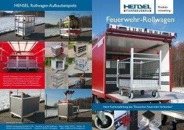 Feuerwehr -Rollwagen - HENSEL Fahrzeugbau